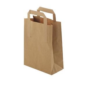 "12"" x 7"" x 17"" 1/6 Paper Grocery Kraft Bag-Supermart- (300 ct)"