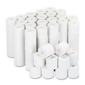 "2 1/4"" x 126' Adding Machine/Calculator Paper Rolls; 16#; 1/2"" Core; 100 rolls/carton - White"
