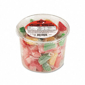Office Snax Assorted Fruit Slices Candy, Individually Wrapped, 2lb Plastic Tub
