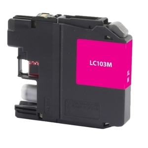 Brother LC103M Compatible Inkjet Cartridge (600 page yield) - Magenta