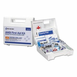 ANSI 2015 Compliant Class A Type I & II First Aid Kit for 25 People, 89 Pieces