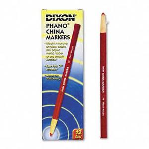 Dixon China Marker, Red, Dozen