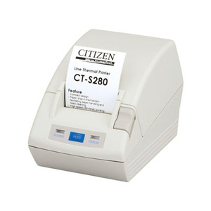 Citizen CT-S280, Thermal POS Printer, 58mm, 80 mm/Sec, 32-48 col, Serial, White