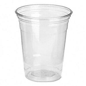 Dixie Clear Plastic PETE Cups, Cold, 12 oz., WiseSize Packs, (500 cups per carton)