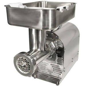 Commercial Grade 1 HP Electric Meat Grinder and Sausage Stuffer (Weston # 08-2201-W) - FREE SHIPPING