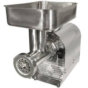 Commercial Grade 3/4 HP Electric Meat Grinder and Sausage Stuffer (Weston # 08-1201-W) - FREE SHIPPING