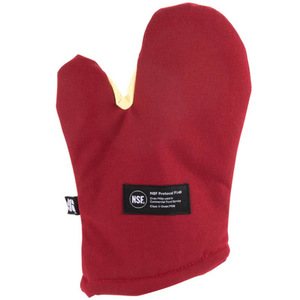 """Cool Touch Flame Conventional Oven Mitt w/Kevlar - Protects to 535 F - 17"""" - NSF Listed"""