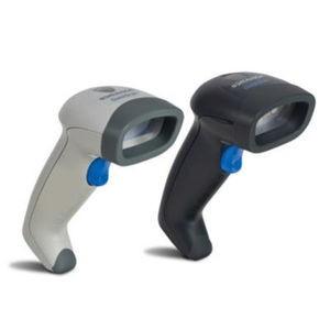 Datalogic QuickScan QD2430 Barcode Scanner, 2D Barcode Reader, USB Kit, Stand, White