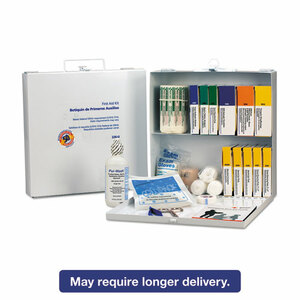 First Aid Kit for 50 People, 195 Pieces, OSHA/ANSI Compliant, Metal Case