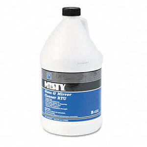Misty Glass & Mirror Cleaner w/Ammonia, 1 gal. Bottle