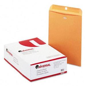 Kraft Clasp Envelope, Side Seam, 28lb, 10 x 13, Light Brown, 100/Box