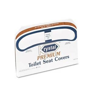 Boardwalk Premium Half-Fold Toilet Seat Covers, 250 Covers/Box, 20 Boxes/Carton