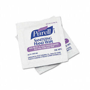 "Purell 90211M Sanitizing Hand Wipes, 5"" x 7"" (1,000 Wipes)"
