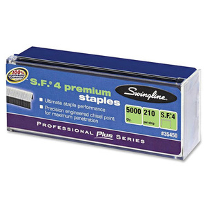Swingline S.F. 4 Premium Chisel Point 210 Count Full Strip Staples, 5,000/Box