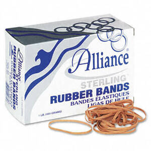 Alliance Sterling Ergonomically Correct Rubber Bands, #33, 3-1/2 x 1/8, 850 Bands/1lb Box