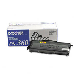 Brother TN360 High-Yield Toner, 2600 Page-Yield, Black