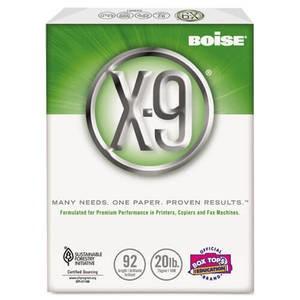"""8-1/2"""" x 11"""" Boise X-9 Multipurpose Paper, 92 Bright, 20lb (2,500 sheets/carton) - White"""