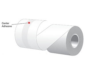 "2.25"" x 160'  MAXStick 15# Direct Thermal ""Sticky Paper"" (24 rolls/case) - Center Adhesive"