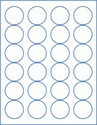 "1.625"" Circle  Laser/Inkjet Labels; 24 up; (100 sheets/box) - Standard White Matte"