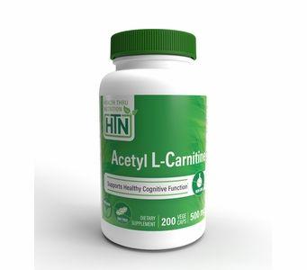 Acetyl L-Carnitine 500mg (NON-GMO) 200 Vegecaps