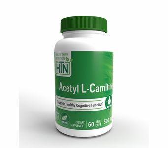 Acetyl L-Carnitine 500mg (NON-GMO) 60 Vegecaps