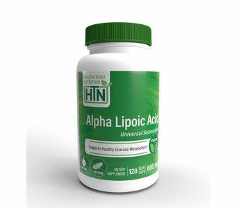Alpha-Lipoic Acid (Hypoallergenic) 600mg (120 Vegecaps) (Vegan) (Non-GMO) (Gluten Free)