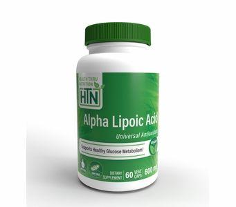 Alpha-Lipoic Acid (Hypoallergenic) 600mg (60 Vegecaps) (Vegan) (Non-GMO) (Gluten Free)