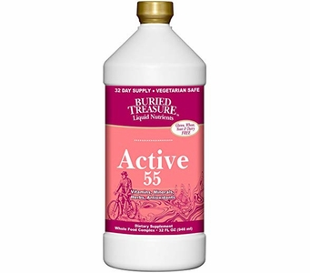 Buried Treasure Active 55 - Vitamins, Minerals, Herbs, and Antioxidants - 32 FL OZ (946ml)