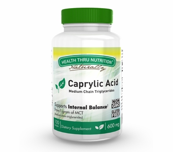 Caprylic Acid 600mg (100 Softgels) Medium Chain Triglycerides