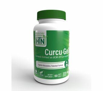 Curcu-Gel 325mg (60 Softgels) BCM-95 Enhanced Absorption Curcumin (Soy-Free) (NON-GMO)