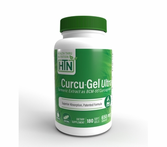 Curcu-Gel Ultra 650mg (180 Softgels) BCM-95 Enhanced Absorption Curcumin (Soy-Free) (NON-GMO)