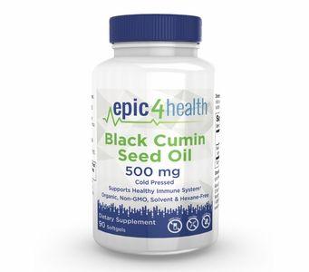 Epic4Health - Black Cumin Seed Oil 500mg (90 Softgels)