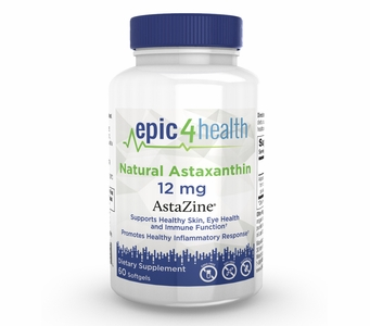 Epic4Health - Natural Astaxanthin (as AstaZine®) 12mg (60 Softgels)