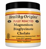 Healthy Origins Fully Reacted Magnesium Bisglycinate Chelate (TRAACS�), 200mg - 8oz (Soy-Free & NON-GMO)