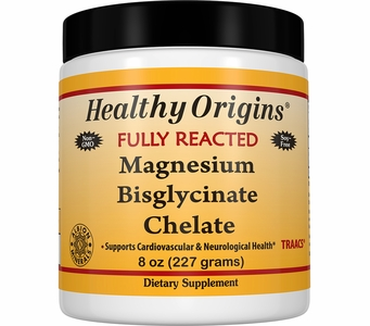 Healthy Origins Fully Reacted Magnesium Bisglycinate Chelate (TRAACS®), 200mg - 8oz (Soy-Free & NON-GMO)