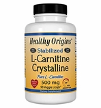 Healthy Origins Stabilized L-Carnitine Crystalline 500mg 90 Veggie Licaps� (Soy-Free, Gluten Free & NON-GMO)