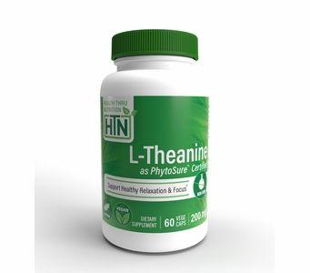 L-Theanine (PhytoSure™ Certified) 200mg NON-GMO (60 VegeCaps)