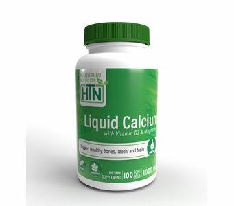 Liquid Calcium and Magnesium with 1000 IU of Vitamin D3 (100 Softgels)
