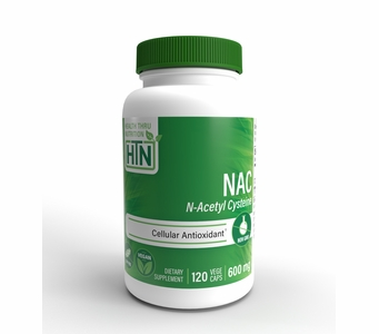 NAC N-Acetyl Cysteine 600mg (120 VegeCaps) (Non GMO)