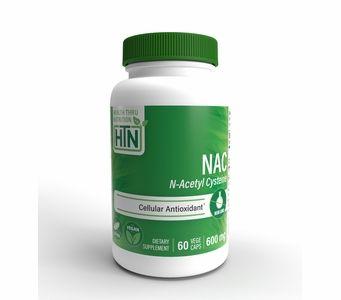 NAC N-Acetyl Cysteine 600mg (60 VegeCaps) (Non GMO)