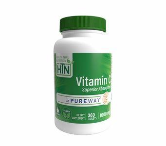 Vitamin C 1,000mg (360 Tablets) Advanced Absorption PureWay-C® (NON-GMO) (Gluten Free)