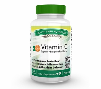Vitamin C 500mg (360 Vegecaps) Advanced Absorption PureWay-C (NON-GMO) (Gluten Free)