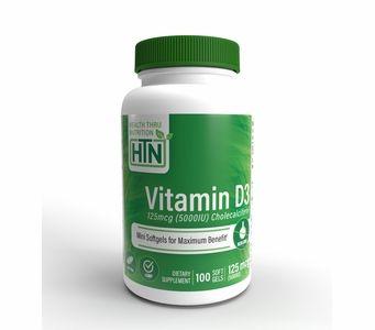 Vitamin D3 125mcg / 5,000 IU (100 Softgels) (Soy-Free) (NON-GMO)