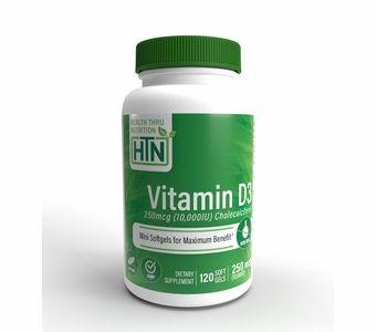 Vitamin D3 250mcg / 10,000 IU (120 Softgels) (Soy-Free) (NON-GMO)
