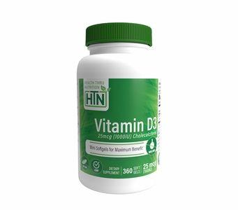 Vitamin D3 25mcg / 1,000 IU (360 Softgels) (Soy-Free) (NON-GMO)