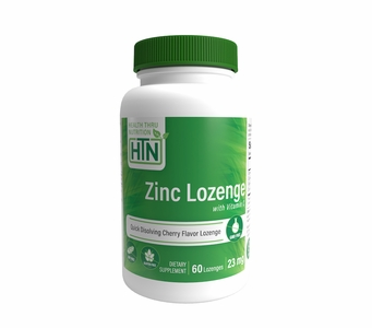 Zinc Lozenge with Vitamin C 23mg (60 Lozenges) Quick Dissolving, Cherry Flavor