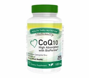 CoQ10 100mg (360 Softgels) Ubiquinone w/BioPerine (Non-GMO) (Soy-Free)