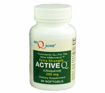 Active-Q Ubiquinol 200mg (30 Softgels) featuring Kaneka Ubiquinol CoQ10