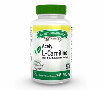 Acetyl L-Carnitine 500mg (60 Capsules)