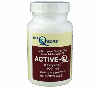 Active-Q Ubiquinol 100mg (60 Softgels) featuring Kaneka Ubiquinol CoQ10